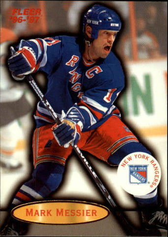 1996-97 Mark Messier New York Rangers FLEER #71 NHL Hockey Card