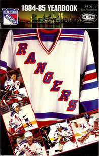 1984-85 New York Rangers Media Guide Yearbook Barry Beck Nick Fotiu Mark Pavelich