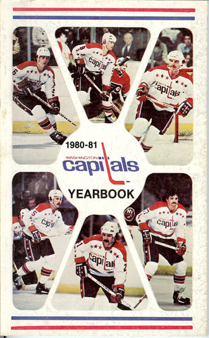 1980-81 Washington Capitals Yearbook Media Guide Mike Gartner
