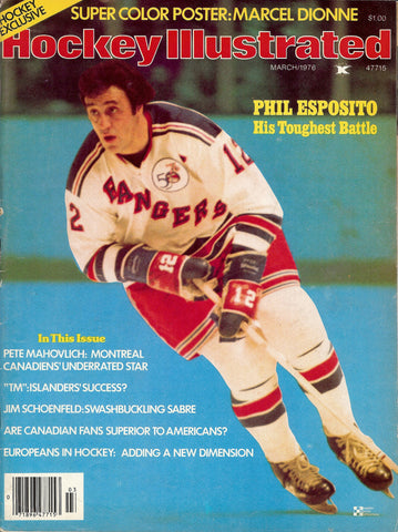 March 1976 NHL Hockey Illustrated Magazine Phil Esposito