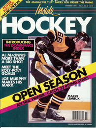 November 1991 The Hockey News Inside Hockey Magazine Mario Lemieux Al MacInnis