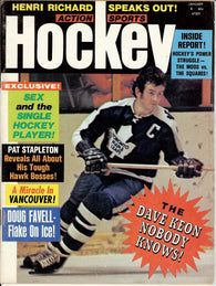 January 1972 NHL Action Sports Hockey Magazine Dave Keon Henri Richard Eddie Shore