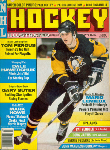 April 1987 NHL Hockey Illustrated NHL Magazine Mario Lemieux Dale Hawerchuk Bernie Federko
