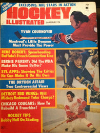 January 1974 NHL WHA Hockey Illustrated Magazine Bernie Parent Yvon Cournoyer WHA