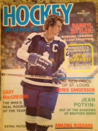 March 1976 NHL Hockey World Magazine Darryl Sittler WHA Derek Sanderson