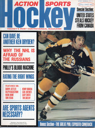 March 1974 NHL Action Sports Hockey Magazine Phil Esposito Rating NHL RWs Darryl Sittler Mark Howe