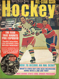 March 1974 Sports Review Series Hockey All-Star Issue Magazine Rod Seiling Phil Esposito Rick Kehoe