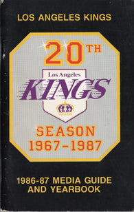 1986-87 Los Angeles Kings Media Guide Yearbook Marcel Dionne Jim Fox Steve Duchesne Bernie Nicholls