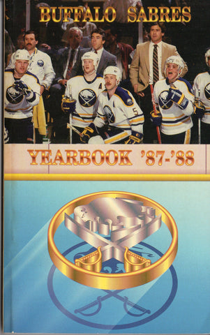 1987-88 Buffalo Sabres Media Guide Yearbook Phil Housley Dave Andreychuk Clark Gillies Tom Barrasso