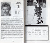 1982-83 Washington Capitals Media Guide Yearbook Dennis Maruk Scott Stevens Rod Langway