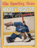 1981-82 Sporting News NHL Register Book Mike Liut Peter Stastny Wayne Gretzky Serge Savard Dan Bouchard