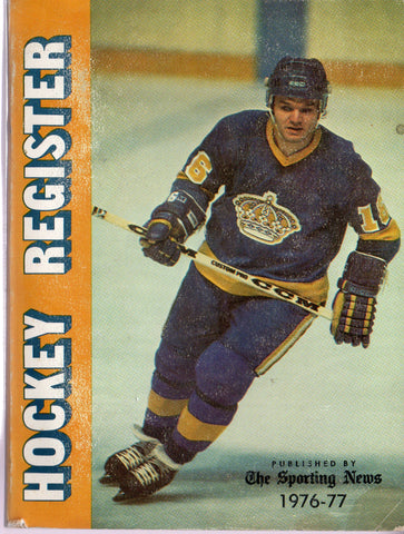 1976-77 The Sporting News Hockey Register Book Marcel Dionne Statistics Players Goalies Awards
