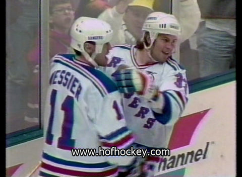 March 2, 1992 New York Rangers - 7 @ New Jersey Devils - 1 Mike Gartner Mike Richter