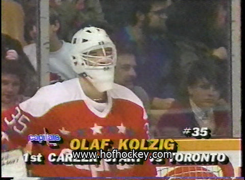 October 21, 1989 Washington Capitals - 4 @ Toronto Maple Leafs - 8 Olaf Kolzig