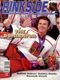 March/April 1998 Rinkside NHL Magazine Dominik Hasek Hockey Olympics Dominator
