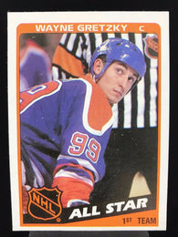 1984-85 Wayne Gretzky Topps All-Star Card Edmonton Oilers