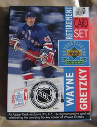 1999 Wayne Gretzky Upper Deck Retirement Card Set New York Rangers, Edmonton Oilers