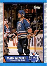 1989-90 Mark Messier Edmonton Oilers #65 Topps NHL Hockey Card