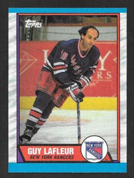 1989-90 TOPPS Hockey # 189 Guy Lafleur New York Rangers Card