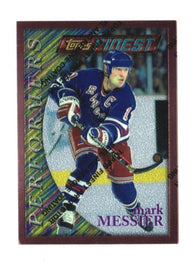 1995-96 Topps Finest Hockey Card #50 Mark Messier New York Rangers #F19856