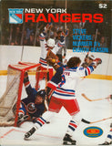 December 9, 1979 New York Islanders - 4 @ New York Rangers - 5 Program Steve Vickers