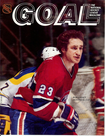 November 7, 1979 Montreal Canadiens - 3 @ Pittsburgh Penguins - 3 GOAL Magazine