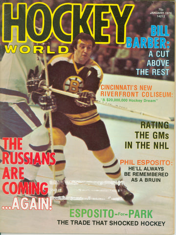 January 1976 NHL Hockey World Magazine Phil Esposito Bill Barber The Russians