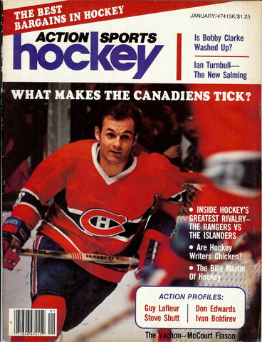 January 1979 Action Sports Hockey NHL Magazine Guy Lafleur