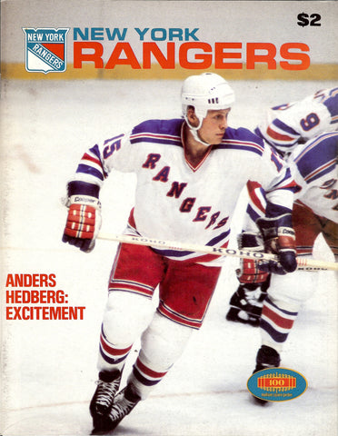 November 10, 1979 Quebec Nordiques - 4 @ New York Rangers - 5 Anders Hedberg