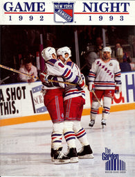 December 15, 1992 Calgary Flames - 3 @ New York Rangers - 0 Mark Messier Mike Vernon
