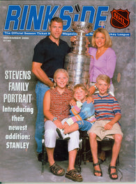 November 2000 NHL Rinkside Hockey Magazine Scott Stevens Mike Modano