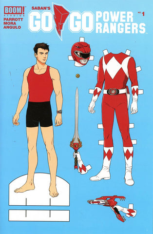 GO GO POWER RANGERS #1 PAPER DOLL VARIANT