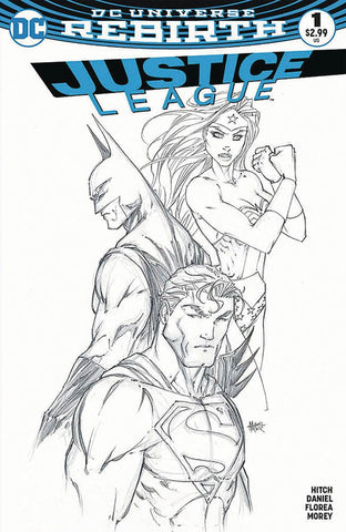 JUSTICE LEAGUE #1 ASPEN MICHAEL TURNER B&W SKETCH VARIANT