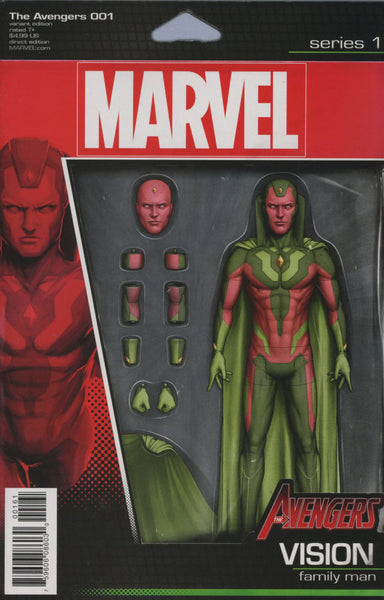 AVENGERS VOL 6 #1 COVER VARIANT D ACTION FIGURE VISION