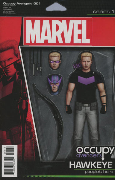 OCCUPY AVENGERS #1 COVER VARIANT C ACTION FIGURE HAWKEYE