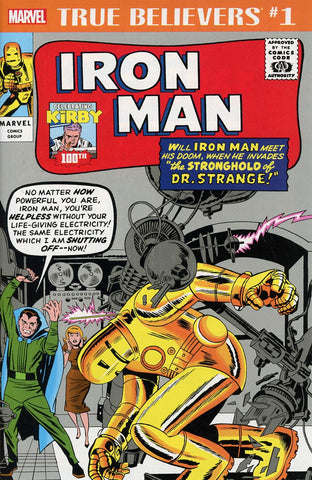 TRUE BELIEVERS KIRBY 100TH IRON MAN #1