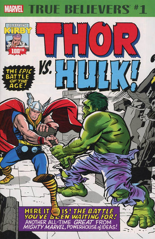 TRUE BELIEVERS KIRBY 100TH THOR VS HULK #1