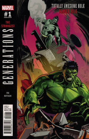 GENERATIONS BANNER HULK & TOTALLY AWESOME HULK #1  BUFFAGNI V