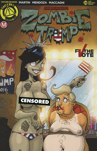 ZOMBIE TRAMP #29 COVER VARIANT F ELECTION RISQUE