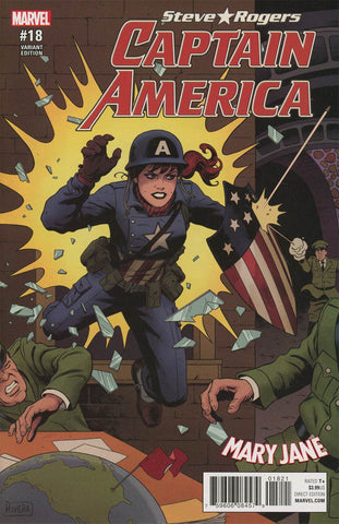 CAPTAIN AMERICA STEVE ROGERS #18 RIVERA MARY JANE VAR SE