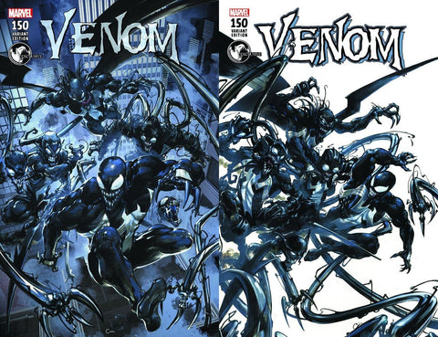 VENOM #150 UNKNOWN CLAYTON CRAIN VARIANT CVR A & B SKETCH