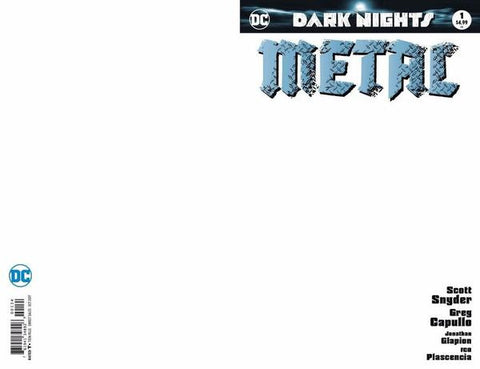 DARK NIGHTS METAL #1 BLANK VARIANT