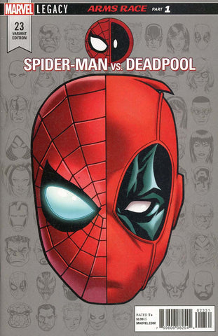 SPIDER-MAN DEADPOOL #23 MCKONE LEGACY HEADSHOT VAR LEG