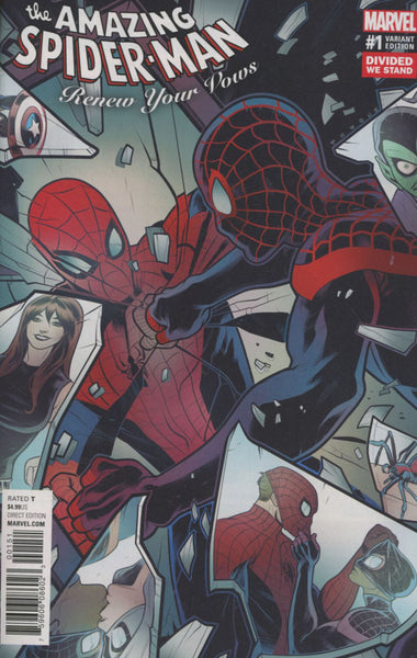 AMAZING SPIDERMAN RENEW YOUR VOWS VOL 2 #1 VARIANT DIVIDED WE ST