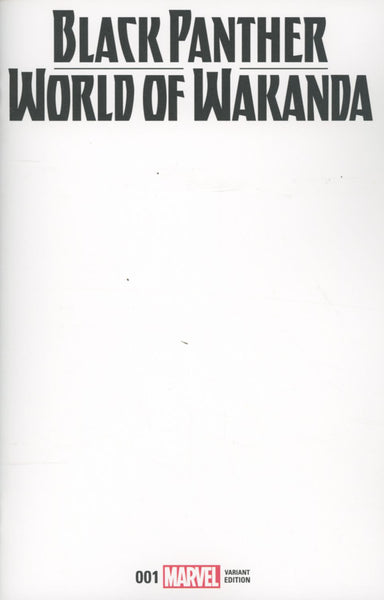 BLACK PANTHER WORLD OF WAKANDA #1 COVER VARIANT C BLANK