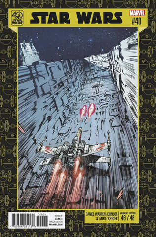 STAR WARS #40 JOHNSON 40TH ANNIV VAR