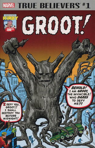 TRUE BELIEVERS KIRBY 100TH GROOT #1