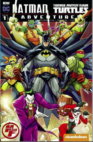 BATMAN TMNT ADVENTURES #1 H&F VARIANT