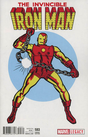 INVINCIBLE IRON MAN #593 KIRBY 1965 T-SHIRT VAR LEG
