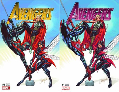 AVENGERS VOL 6 #1 EXCLUSIVE J SCOTT CAMPBELL COMICXPOSURE GOLD 2 PACK